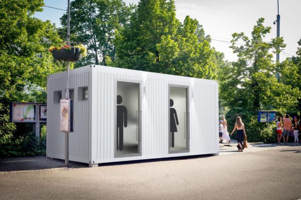 Nově k pronájmu sanitární kontejner pro V.I.P akce